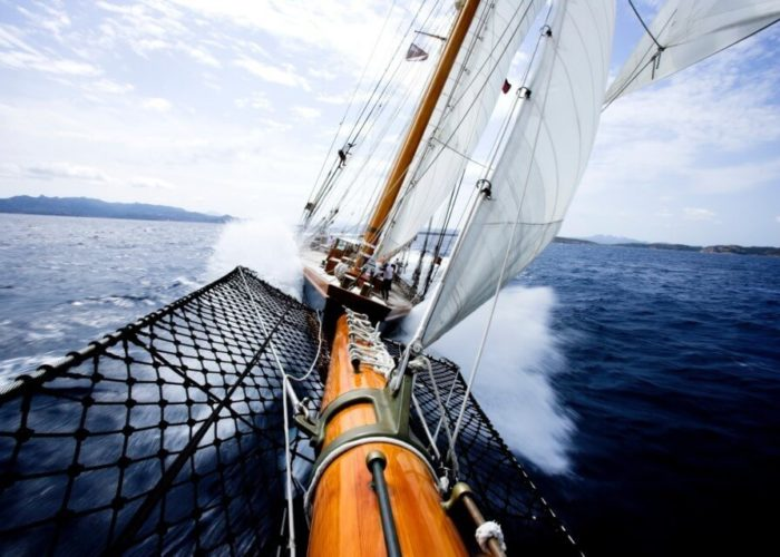 Classic Sailing Yacht Shenandoah Of Sark Bowsprit