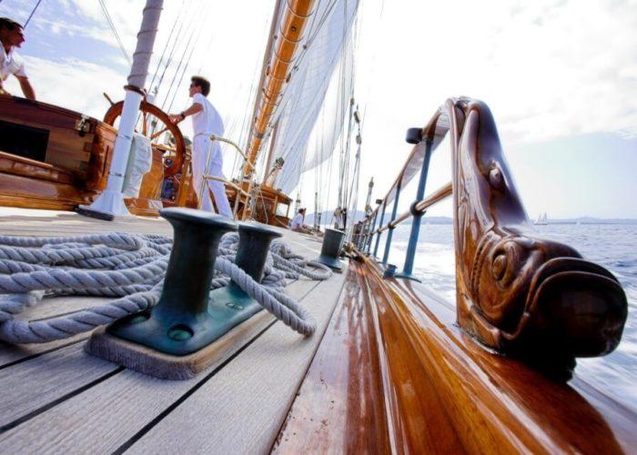 Classic Sailing Yacht Shenandoah Of Sark Deck