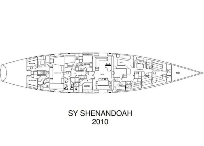Classic Sailing Yacht Shenandoah Of Sark Layout