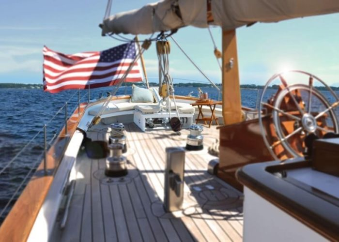 Classic Sailing Yacht Columbia Aft Deck