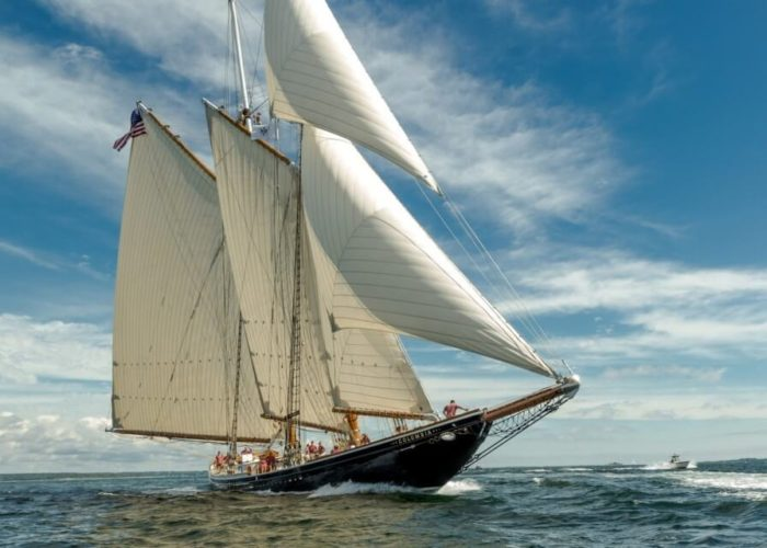 Classic Sailing Yacht Columbia Bow