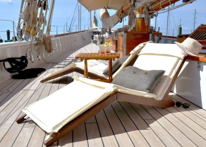 Classic Sailing Yacht Columbia Deck Chairs