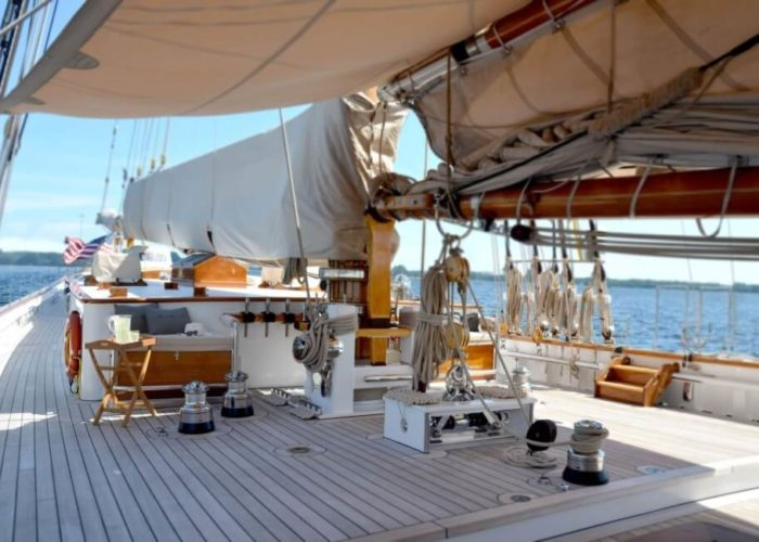 Classic Sailing Yacht Columbia Deck Space