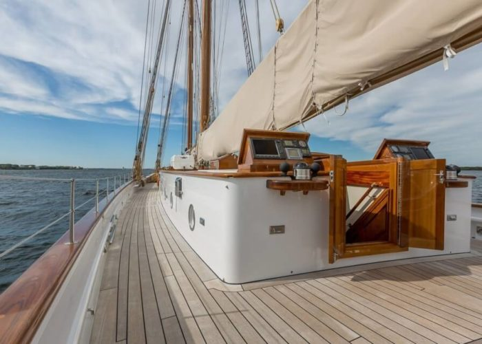Classic Sailing Yacht Columbia On Deck
