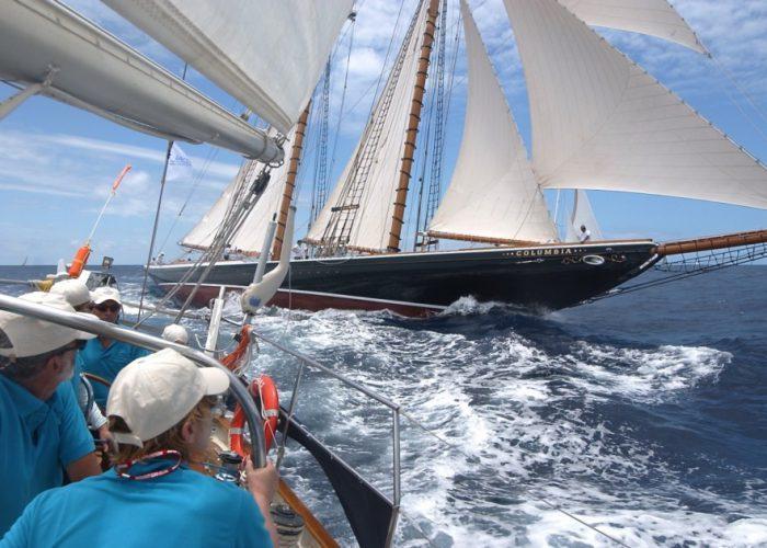 Classic Sailing Yacht Columbia regatta racing