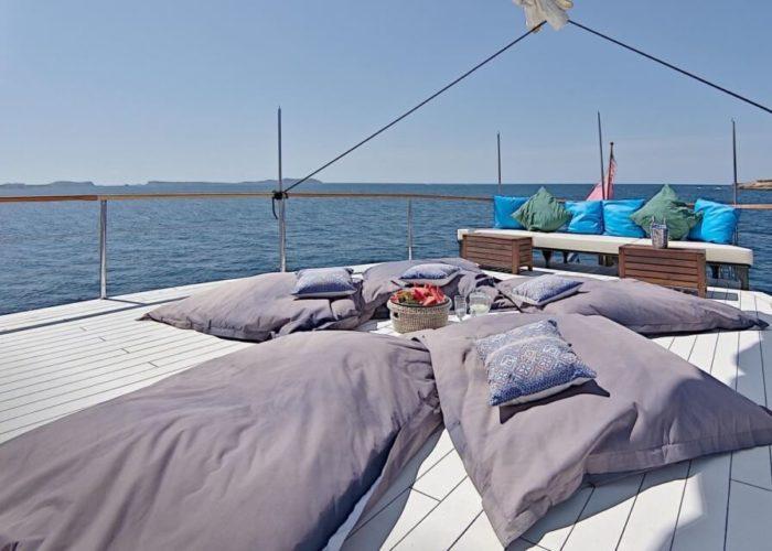 Classic Motor Sailor Yacht Truelove Aft Deck