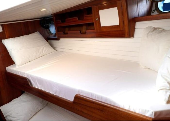 Classic Motor Sailor Yacht Truelove Double Bed Cabin