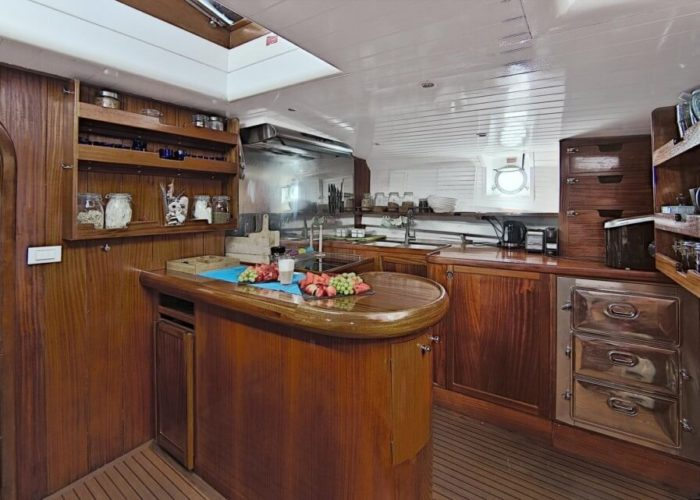 Classic Motor Sailor Yacht Truelove Galley