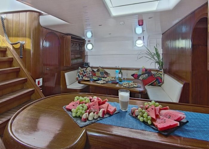 Classic Motor Sailor Yacht Truelove Saloon