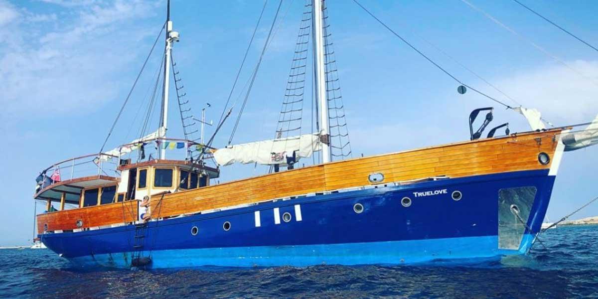 Classic Motor Sailor Yacht Truelove