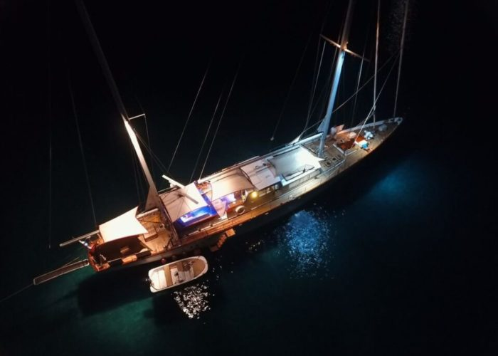 Classic Sailing Yacht Lamadine Aerial