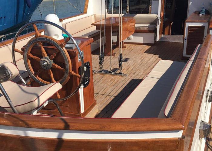 Classic Sailing Yacht Lamadine Aft Deck