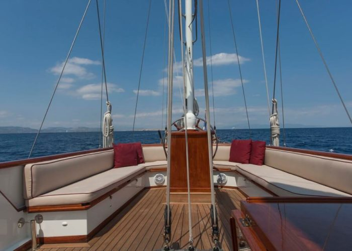 Classic Sailing Yacht Lamadine Aft Seating