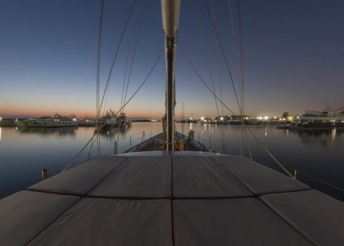 Classic Sailing Yacht Lamadine Deck