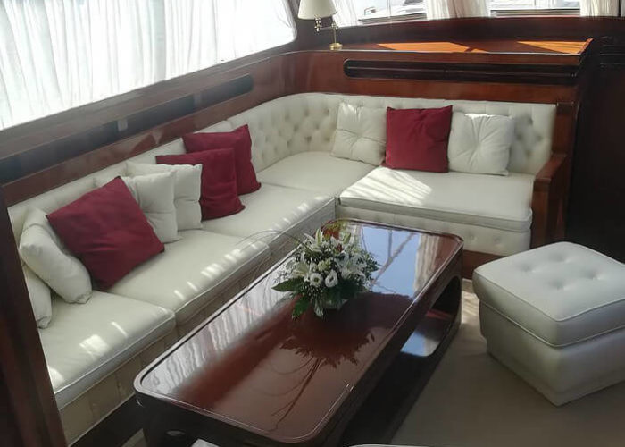 Classic Sailing Yacht Lamadine Saloon