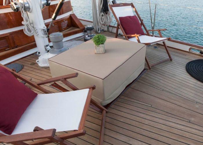 Classic Sailing Yacht Lamadine Seating