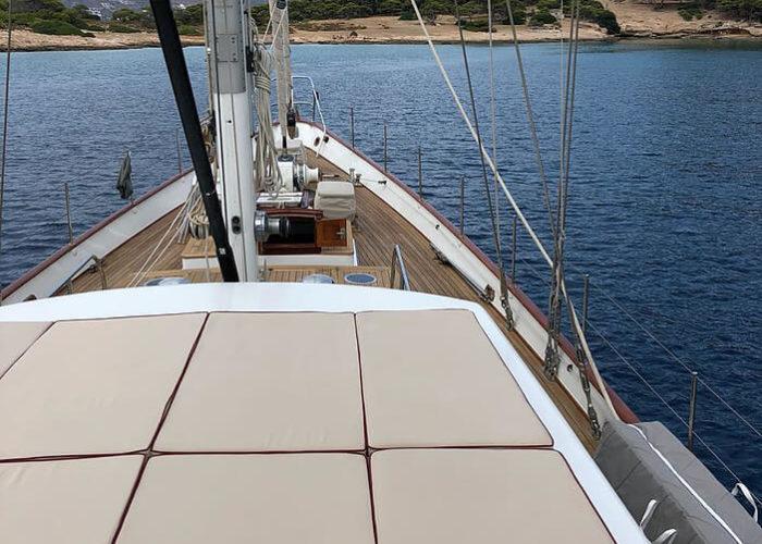 Classic Sailing Yacht Lamadine Sun Deck