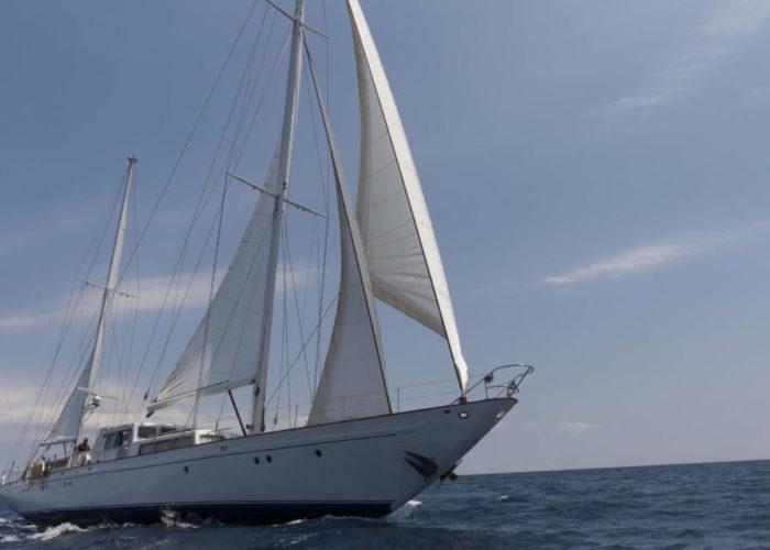 Classic Sailing Yacht Lamadine Under Sail