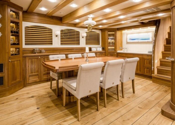 Classic Sailing Yacht Malcolm Miller Indoor Dining