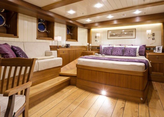 Classic Sailing Yacht Malcolm Miller Master Cabin