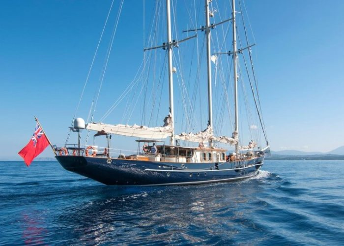 Classic Sailing Yacht Malcolm Miller Stern View
