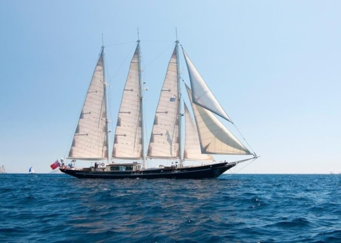 Classic Sailing Yacht Malcolm Miller Under Sail