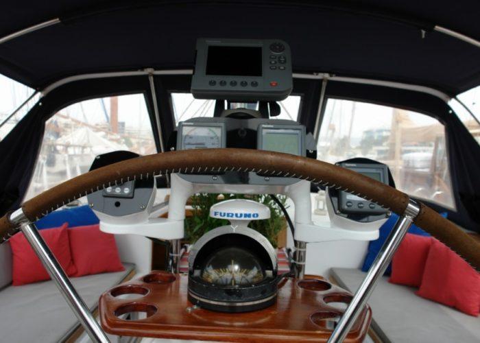 Classic Sailing Yacht Magic Cockpit