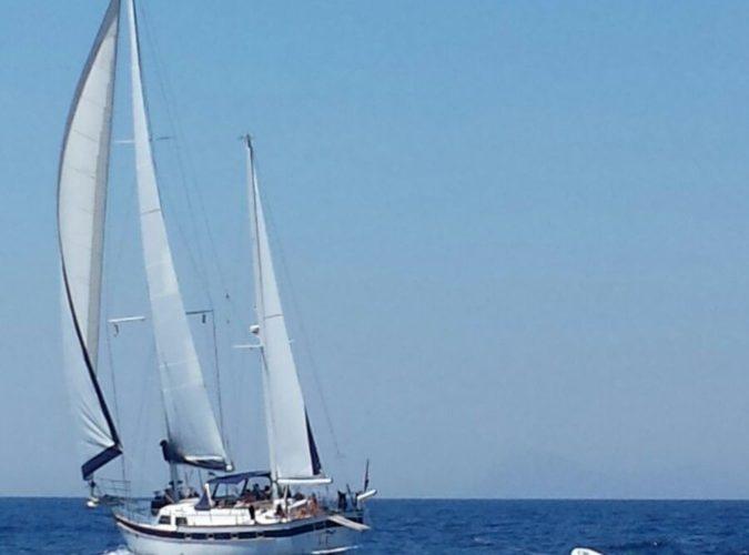 Classic Sailing Yacht Magic Stern View