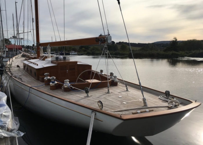 Classic Yacht Helena Aft View