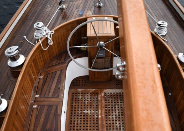 Classic Yacht Helena Cockpit