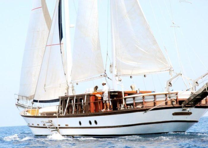 Classic Sailing Yacht Adara Aft View