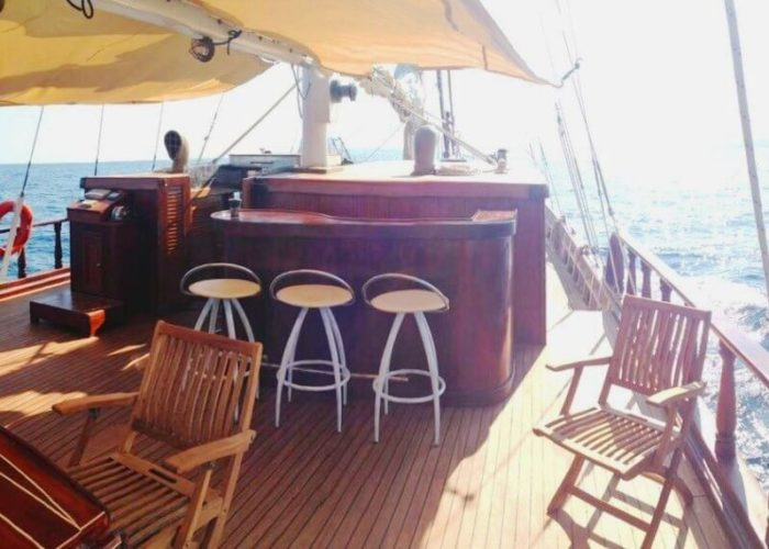 Classic Sailing Yacht Adara Bar On Deck