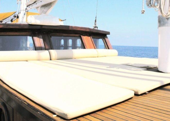 Classic Sailing Yacht Adara Chillout Cushions