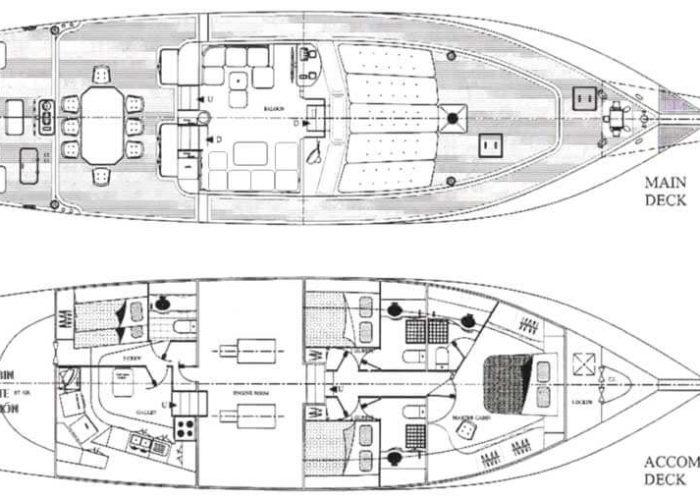 Classic Sailing Yacht Adara Plans