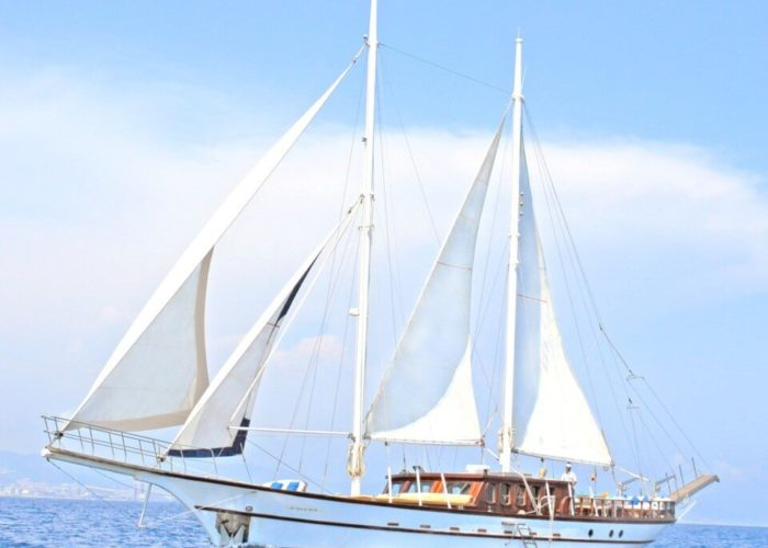 Classic Sailing Yacht Adara Under Sail