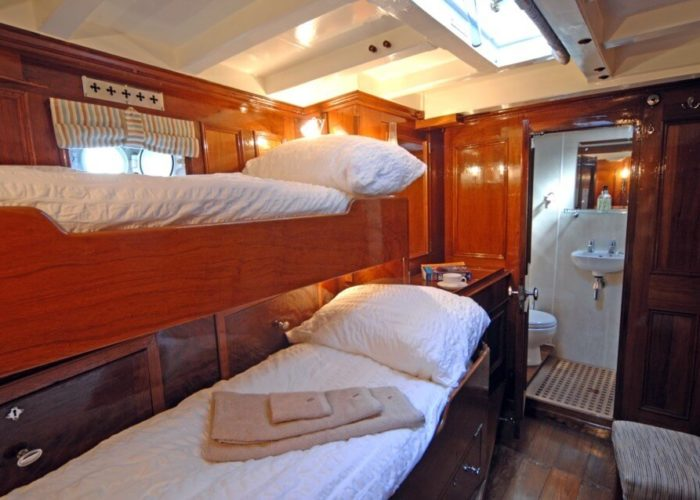 Classic Sailing Yacht Halcyon Bunks