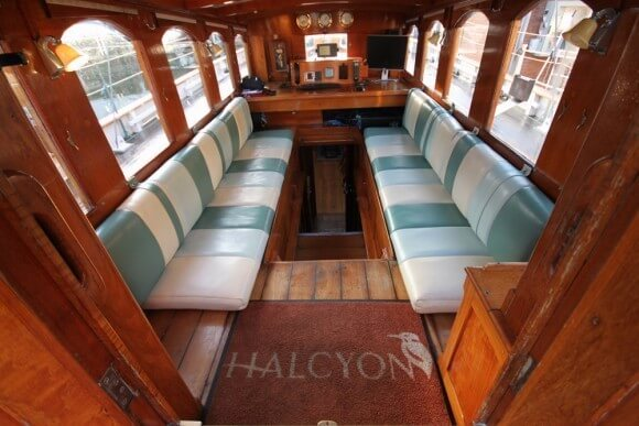 Classic Sailing Yacht Halcyon Covered Seating