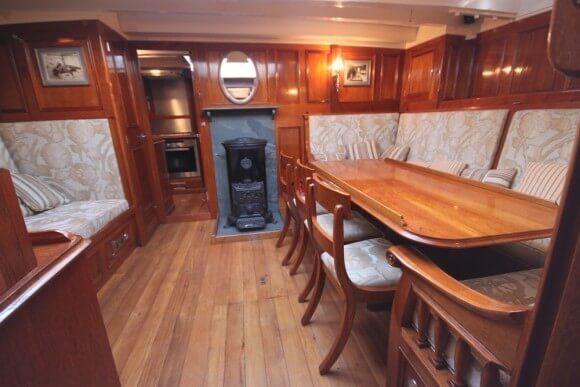Classic Sailing Yacht Halcyon Dining Table