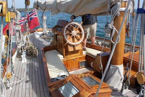 Classic Sailing Yacht Halcyon Helm