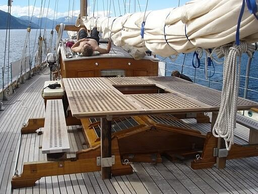 Classic Sailing Yacht Halcyon On Deck