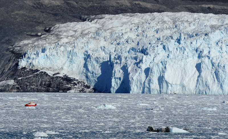 Glacier near Ilulissat Greenland Adventure Yacht Charter