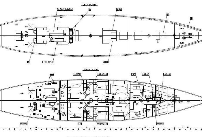 Sailing Yacht Invader Layout