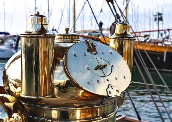 Yacht invader brasswork