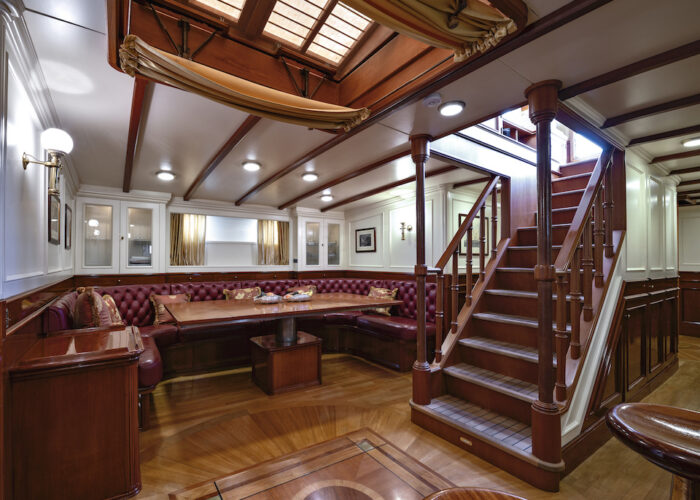 Yacht invader salon and steps