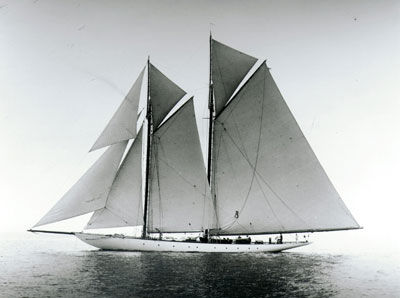 classic sailing yacht invader under sail
