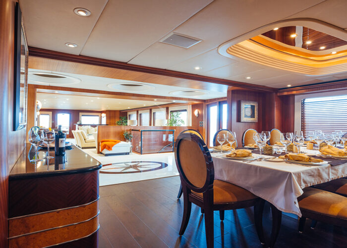 classic motor yacht daydream interior dining.jpg