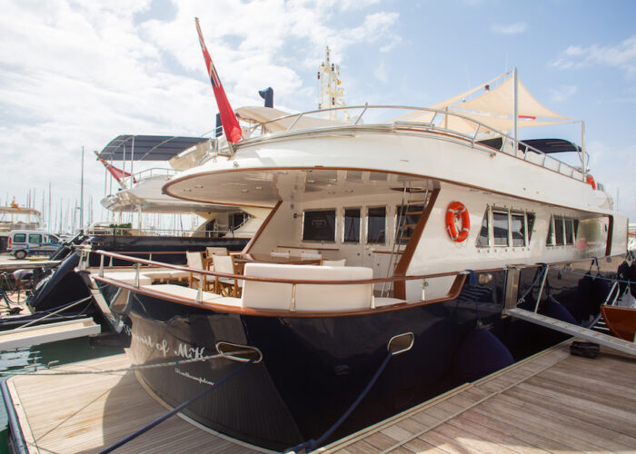 Spirit of MK Stern View moored